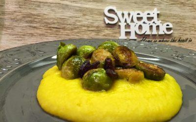 Cavoletti di Bruxelles su purea di patate e mele allo zafferano – A familiar place