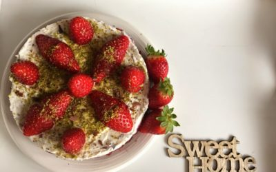 Cheesecake fragole, stracciatella e cacao – Strawberry Fields Forever