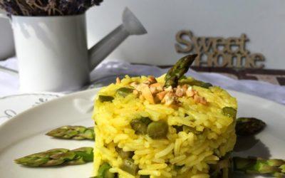 Risotto sole di Provenza con zafferano, asparagi ed anacardi – Je veux