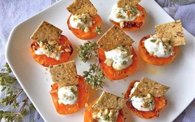 Barchette con crackers al rosmarino e albicocche grigliate – Restore me
