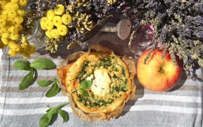 Quiche Merry Christmas con rucola, mele e caprino – Walk in the rain