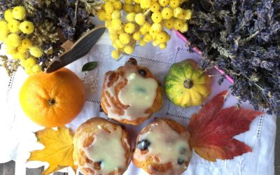 Orange cranberry muffin … sognando New York – Walk in the rain