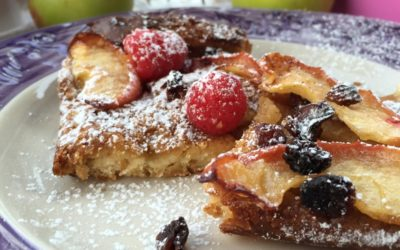 Pain perdu con mele, uvetta, cannella e speranza – Walk in the rain