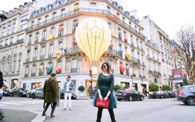 Xmas in Paris, J'a… DIOR … la mongolfiere plus chic!